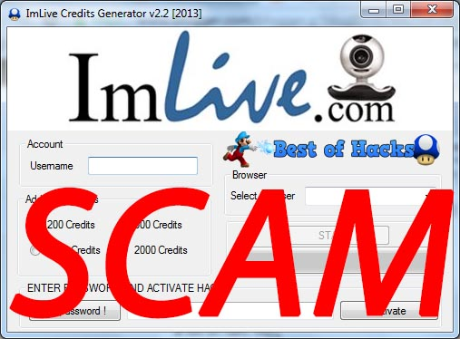 Imlive credit hack 2018 - Do not beleive the scammers